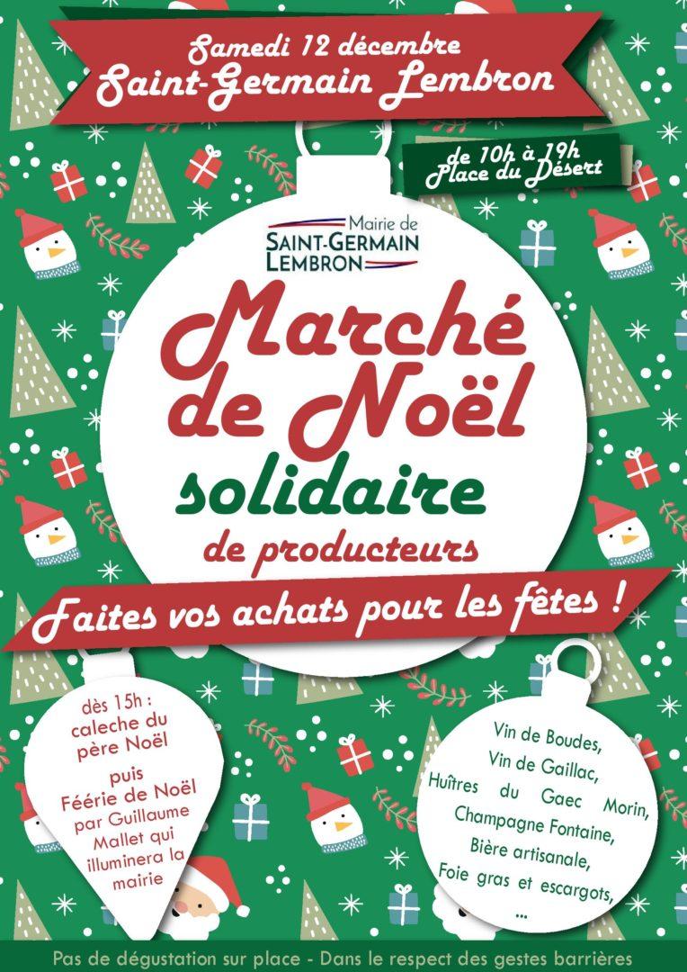 Affiche du marché de Noël de Saint-Germain-Lembron